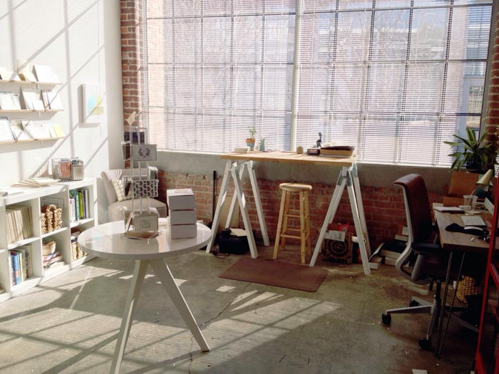 Ellie Snow's old studio in Durham, North Carolina
