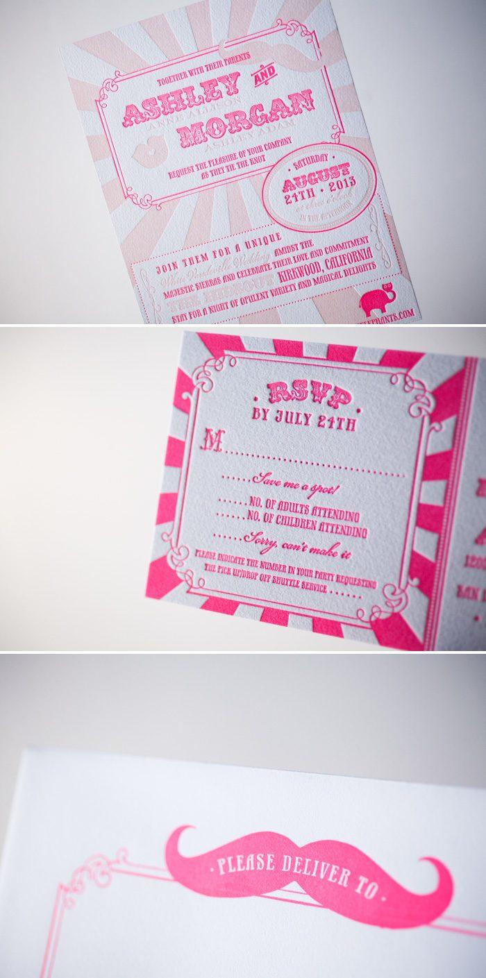 custom vaudeville wedding invitations
