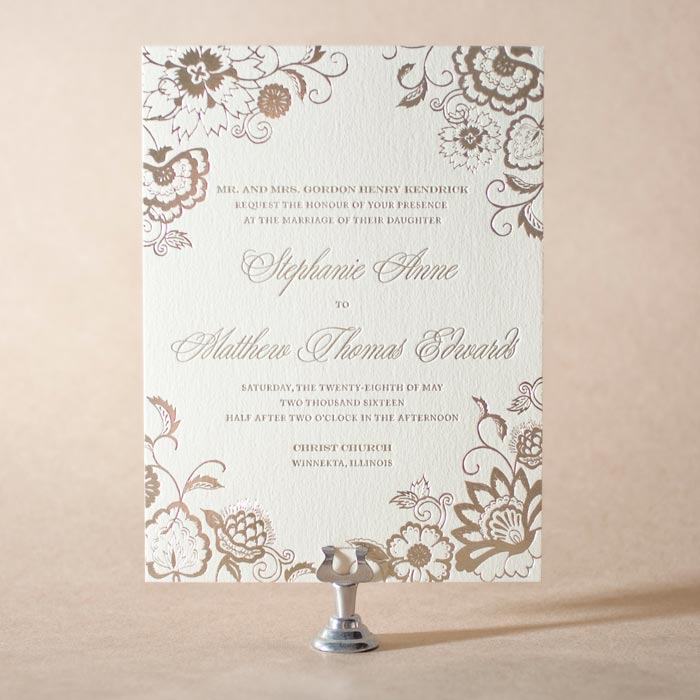 Coriander by Maura Gauthier features elegant tawny matte foil