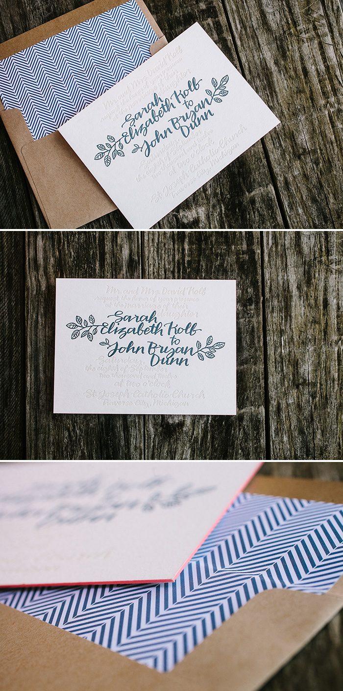 Balsam Calligraphy wedding invitations