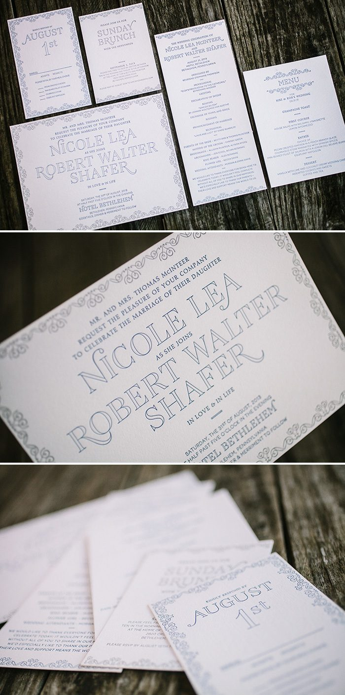 LaSalle wedding invitations