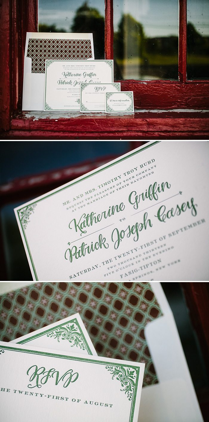 Autumn Inspired Letterpress Wedding Invitations
