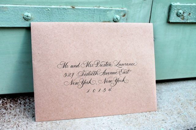 Honoured Guest hand calligraphed envelopes by Sarah Hanna