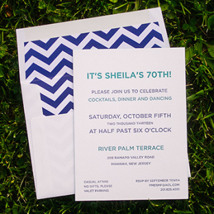 Modern Basel birthday invitations