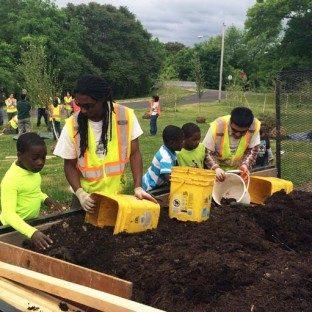 Onondaga Earth Corps Save the Rain tree planting event