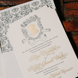 Bella Figura custom wedding invitations