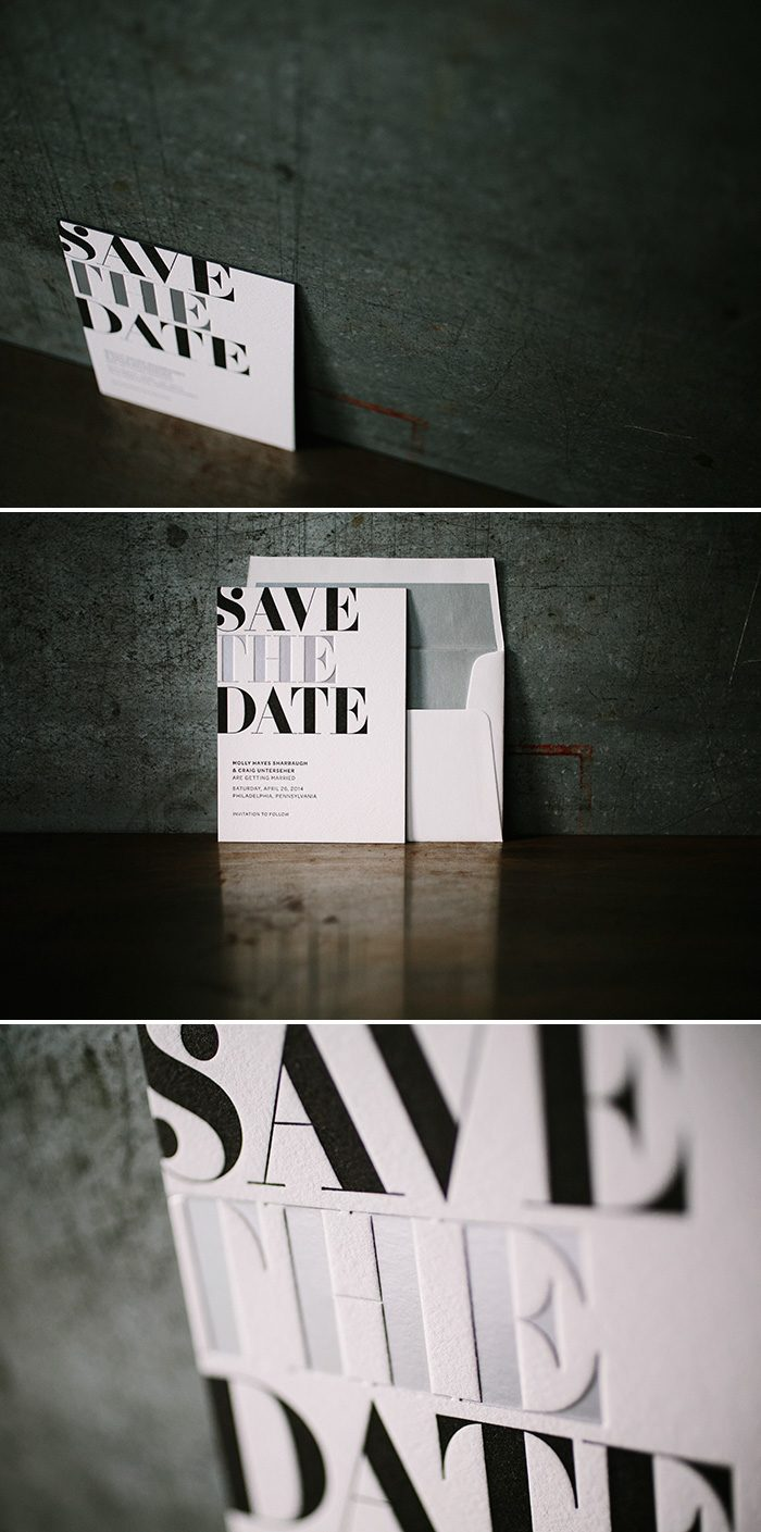 letterpress + foil save the dates | Bella Figura