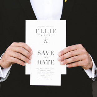 Roosevelt wedding invitations