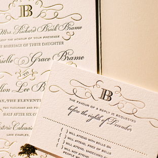 letterpress and foil invitations by Bella Figura