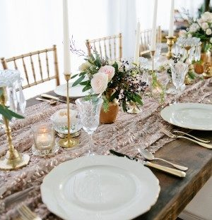 Deco inspired tablescape