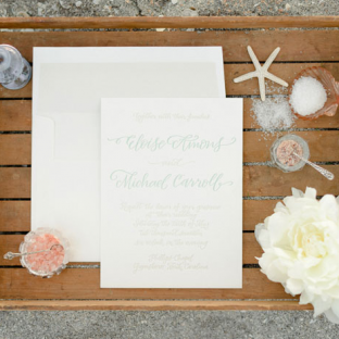 Amons calligraphy wedding invitations