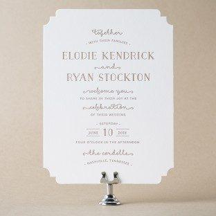 shop over  foil  letterpress wedding invitations from bella figura, Wedding invitations
