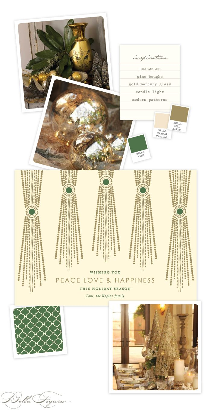 Bejeweled holiday card inspiration by Bella Figura