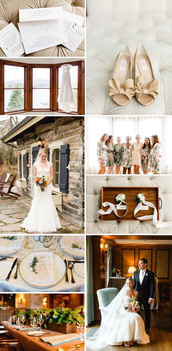 Rustic fall wedding from Bella Figura featuring the Colette invitation