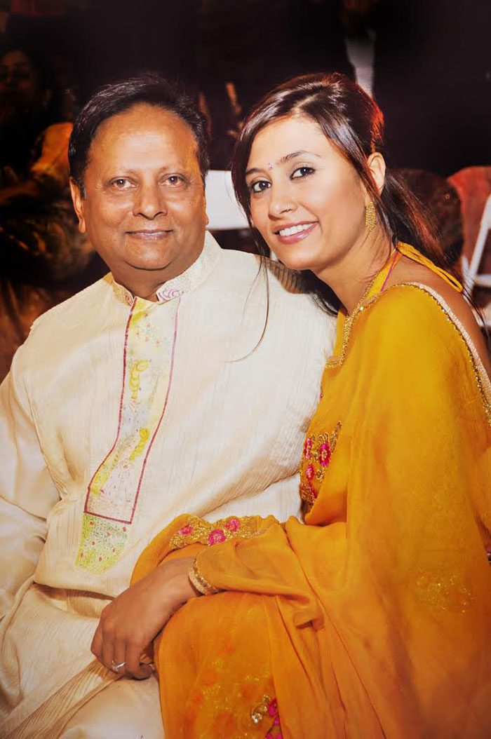 Bella Figura designer Kamal with her father in India