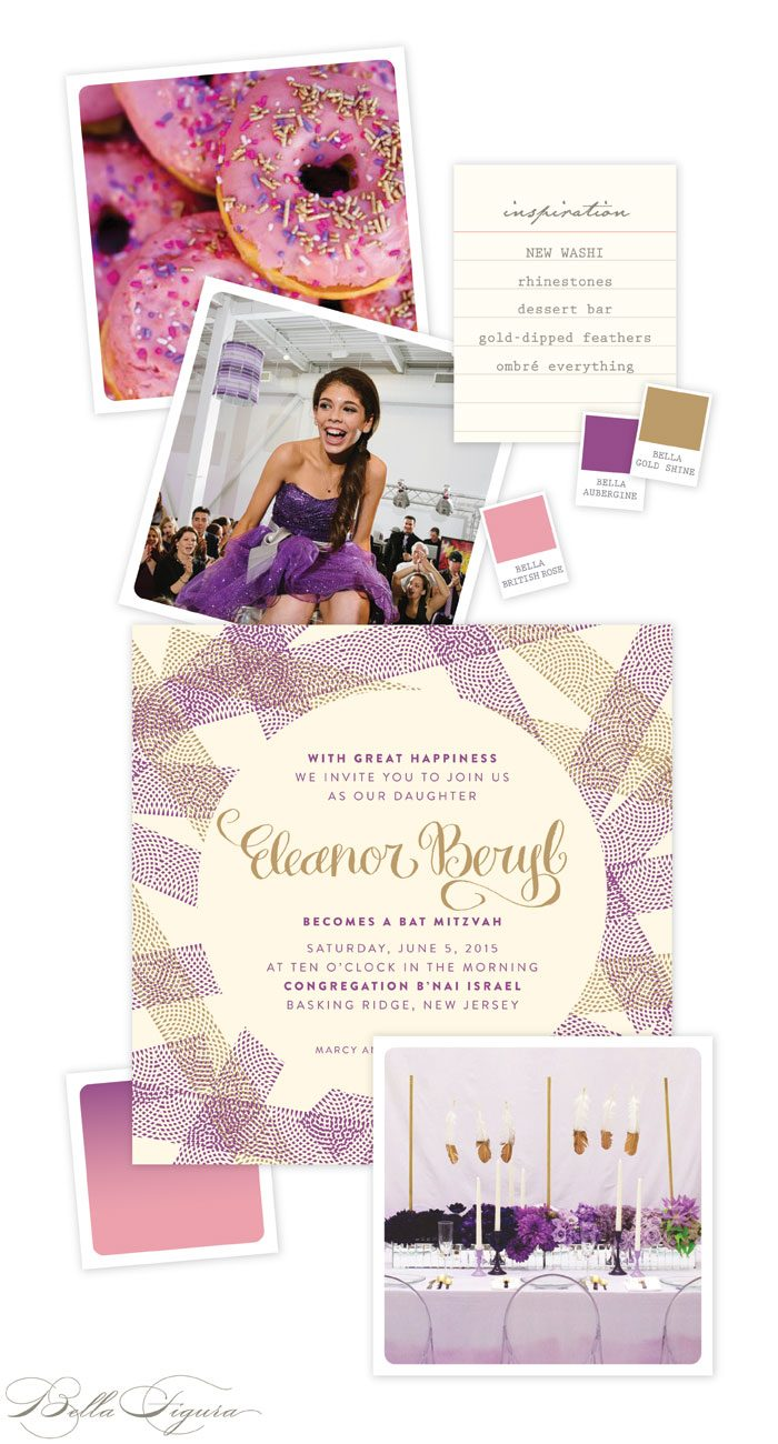 New Washi Bat Mitzvah invitation inspiration + party ideas from Bella Figura