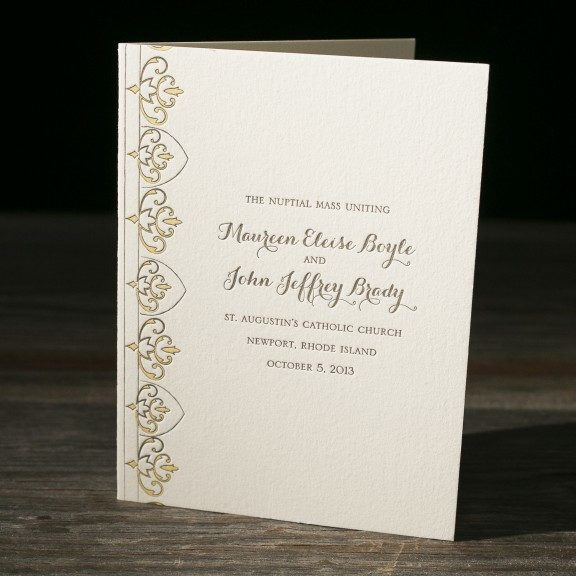 Claddagh Letterpress Wedding Invitations From Bella Figura