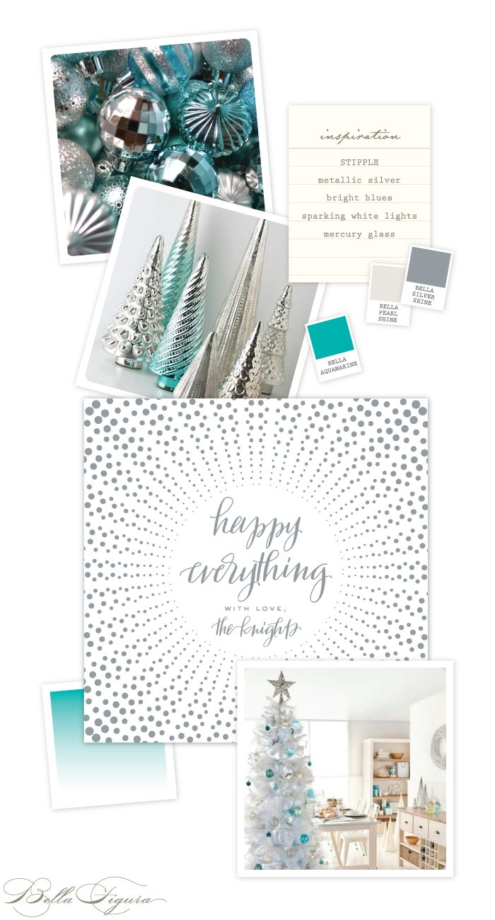 Stipple holiday card inspiration from Bella Figura