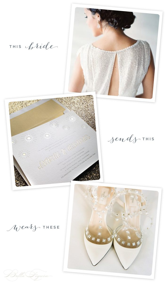 Floret foil stamped wedding inspiration