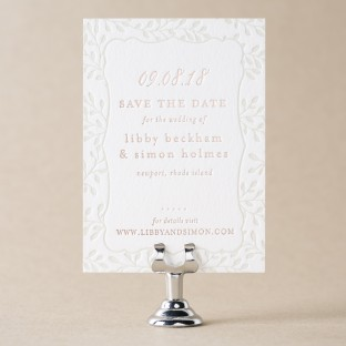 Belsay Save the Date design