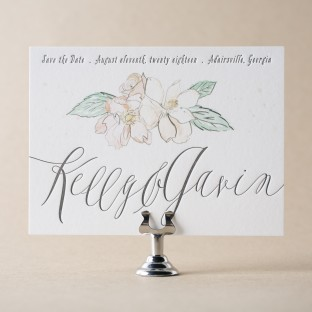 English Garden Save the Date design