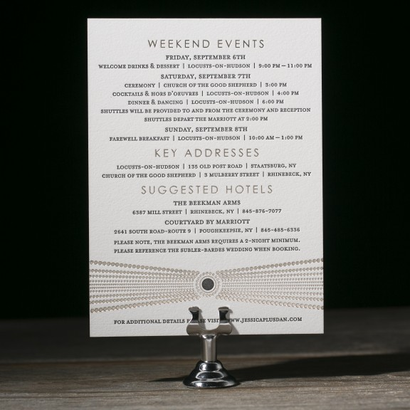 bejeweled letterpress wedding invitations by kamal