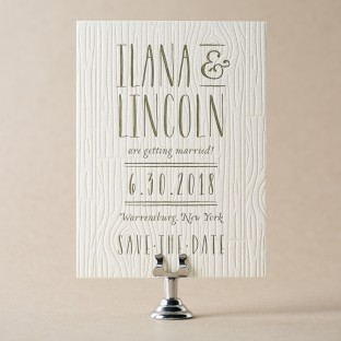 Heartwood letterpress save the dates from Bella Figura