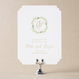 Josephine digital + foil save the dates from Bella Figura