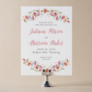 Lupin letterpress + digitally printed save the dates from Bella Figura