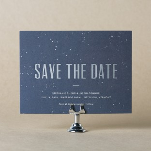 Modern Lumen Save the Date design