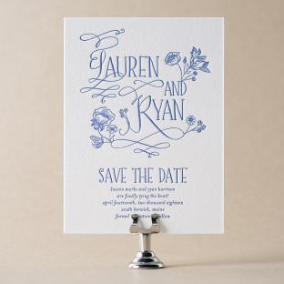 Wildflower letterpress save the date from Bella Figura