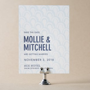 Wythe letterpress + digitally printed save the dates from Bella Figura