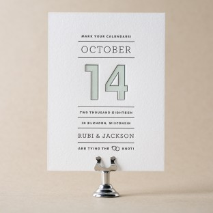Year in Review letterpress save the dates from Bella Figura