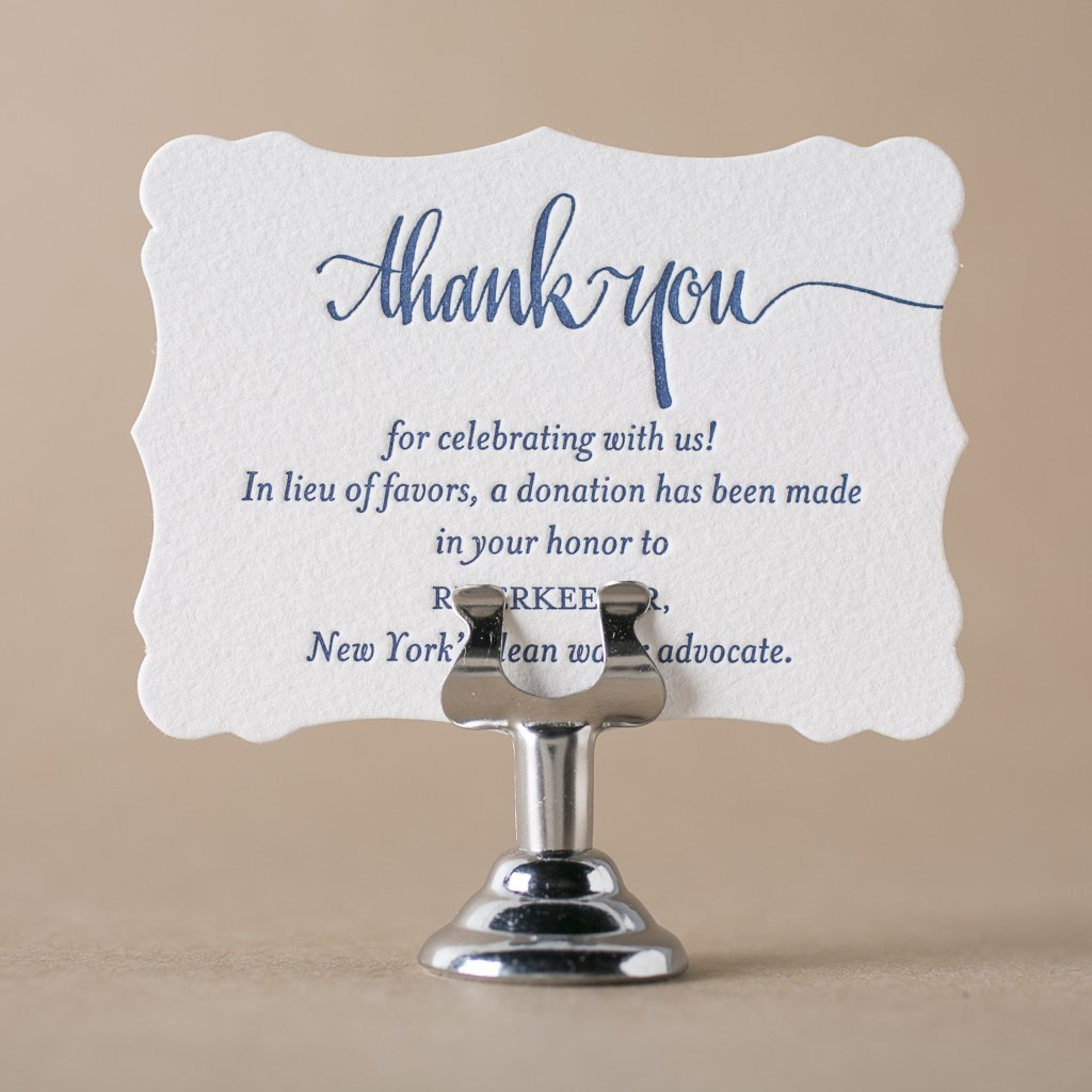 Wedding Gift Contribution Message : Get free letterpress wedding favor cards from Bella Figura