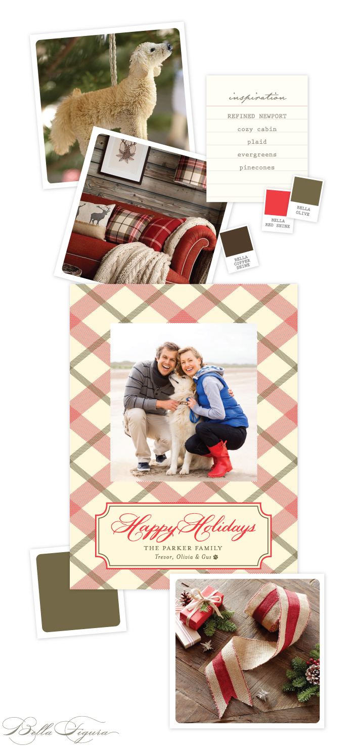 Refined Newport Holiday Card inspiration from Bella Figura