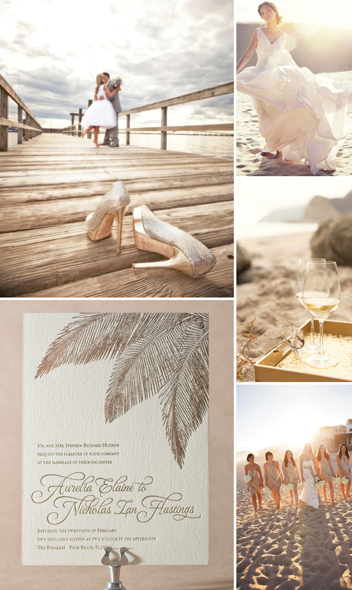 Traditional Palm wedding inspiration from Bella Figura