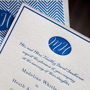 Montauk letterpress wedding invitations