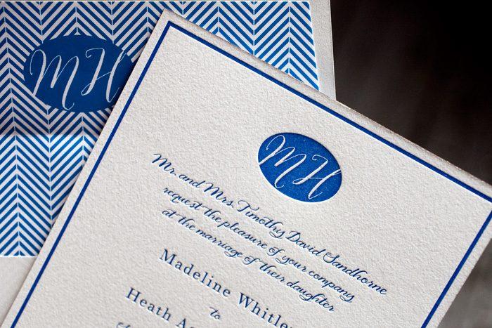 Montauk letterpress wedding invitations