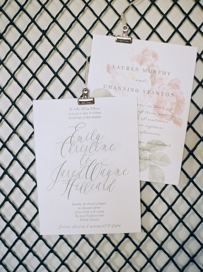 Maravilla and Sea Wash wedding invitations from Bella Figura | Photography by Kate Ignatowski