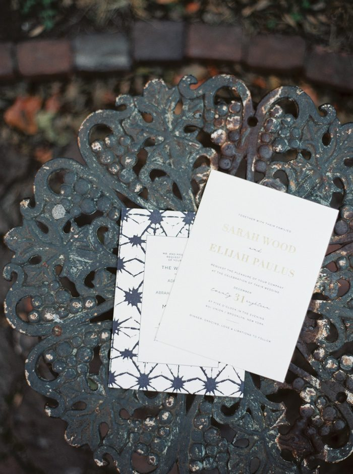 Shibori and Maeve letterpress wedding invitations from Bella Figura | Photography by Kate Ignatowski