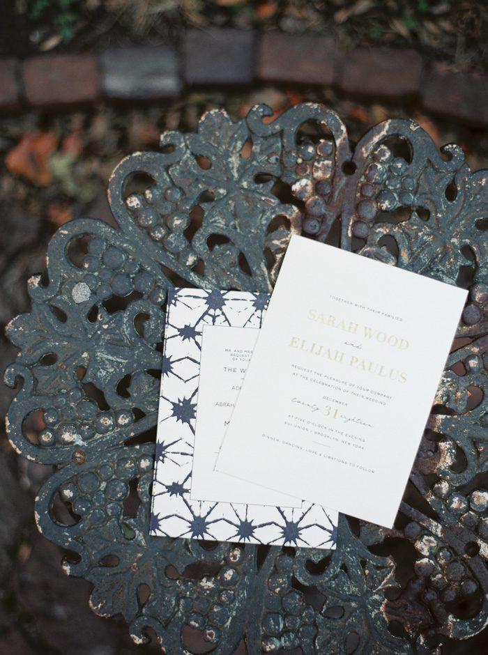 Shibori and Maeve letterpress wedding invitations from Bella Figura | Photography by Kate Ignatowski