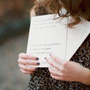 Betsy calligraphy wedding invitations by Nicole Black