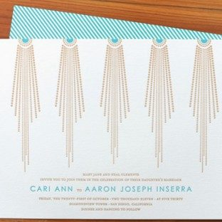 bejeweled wedding invitations