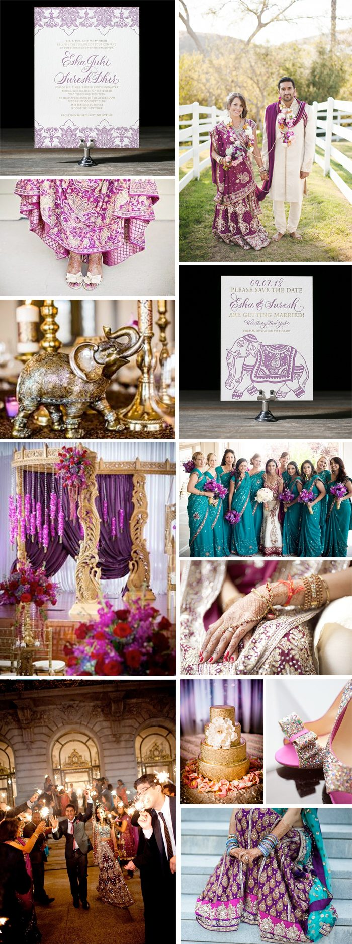 Indian wedding inspiration for Bella Figura's Darjeeling invitation suite