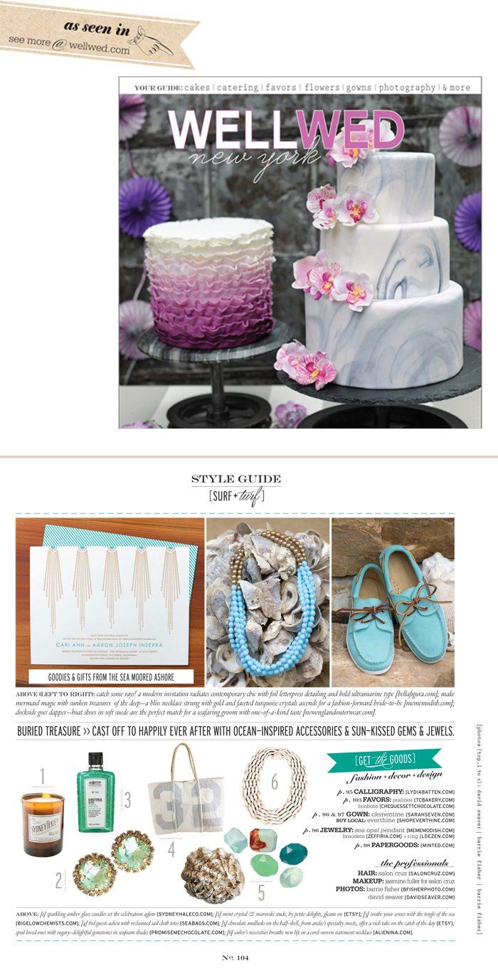 Bella Figura wedding invitations featured in Well Wed New York