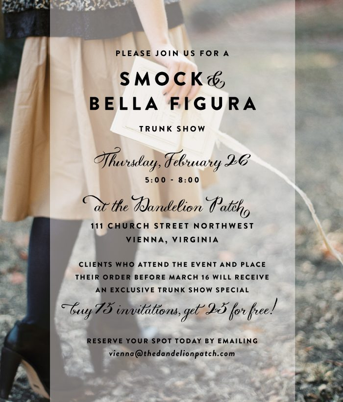 Bella Figura + Smock Trunk Show at the Dandelion Patch