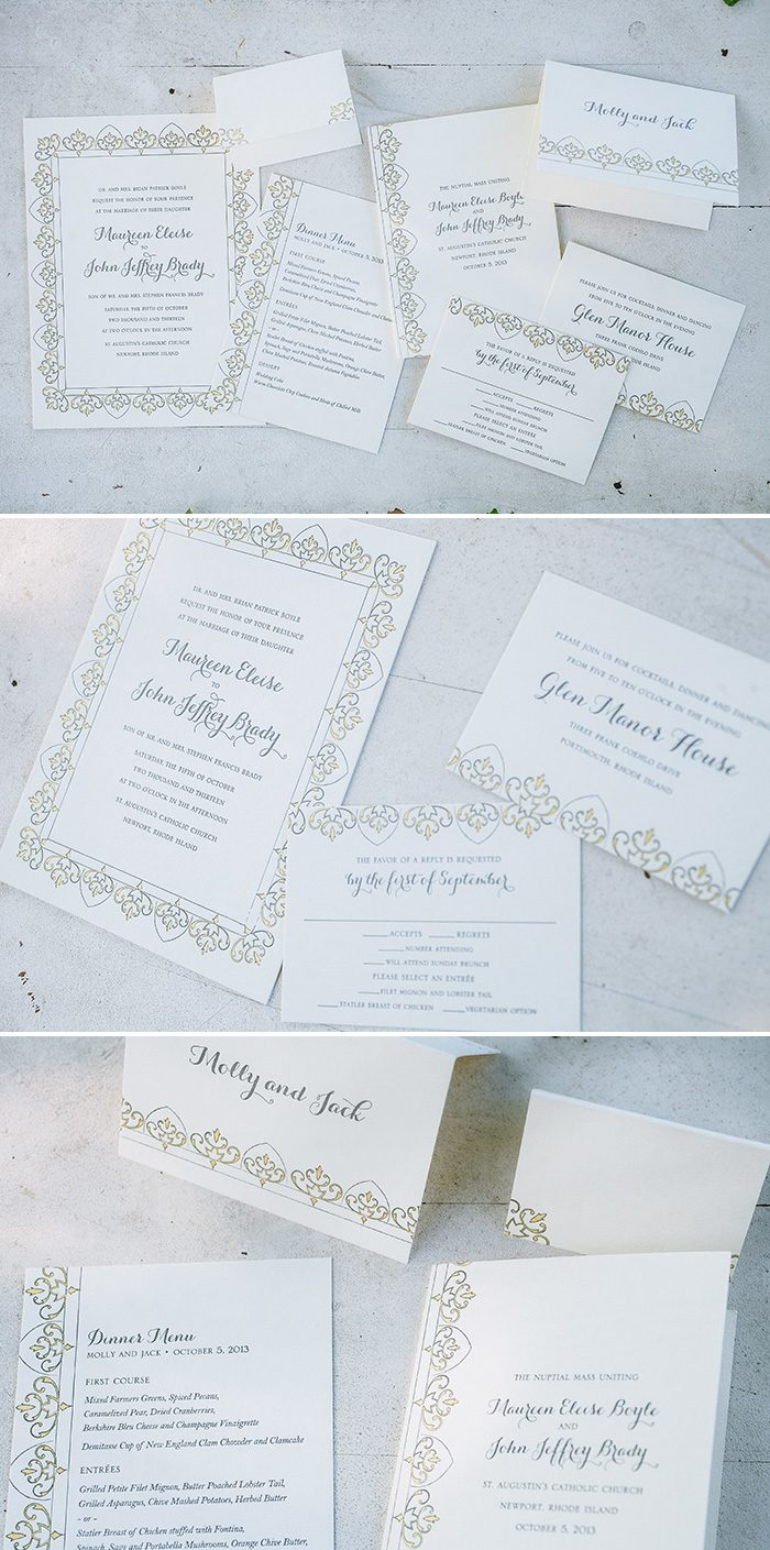 Claddagh letterpress wedding invitations | Bella Figura