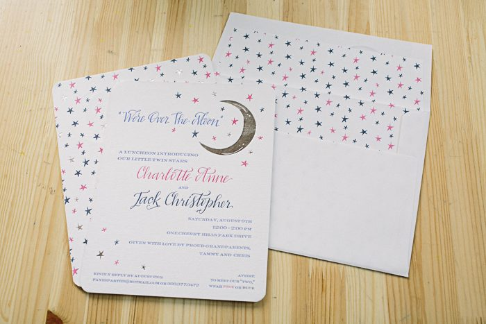 Royal Night foil and letterpress invitations