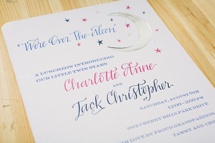 Royal Night foil and letterpress invitations