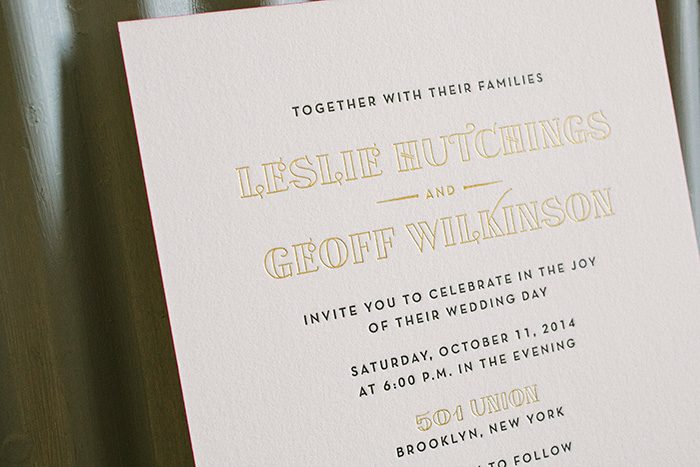 Bright Lights: NYC inspired foil and letterpress wedding invitations | Bella Figura